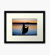 angel by the water Framed Print