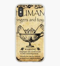 Halloween sticker, human toys and fingers iPhone Case