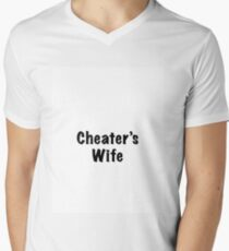 Calling out a Cheater Men's V-Neck T-Shirt