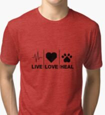 Veterinarian Gifts For Animal Lovers Tri-blend T-Shirt