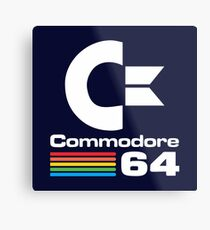 Commodore 64 Logo Merchandise Metal Print