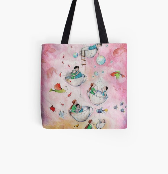 Tea for two All Over Print Tote Bag