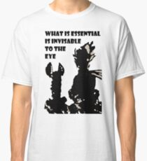 The little prince and the fox - QUOTE - sepia Classic T-Shirt