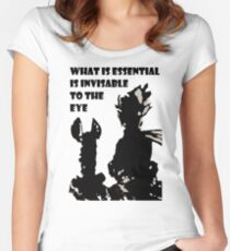 The little prince and the fox - QUOTE - sepia Women's Fitted Scoop T-Shirt