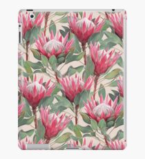Painted King Proteas on Cream  iPad Case/Skin