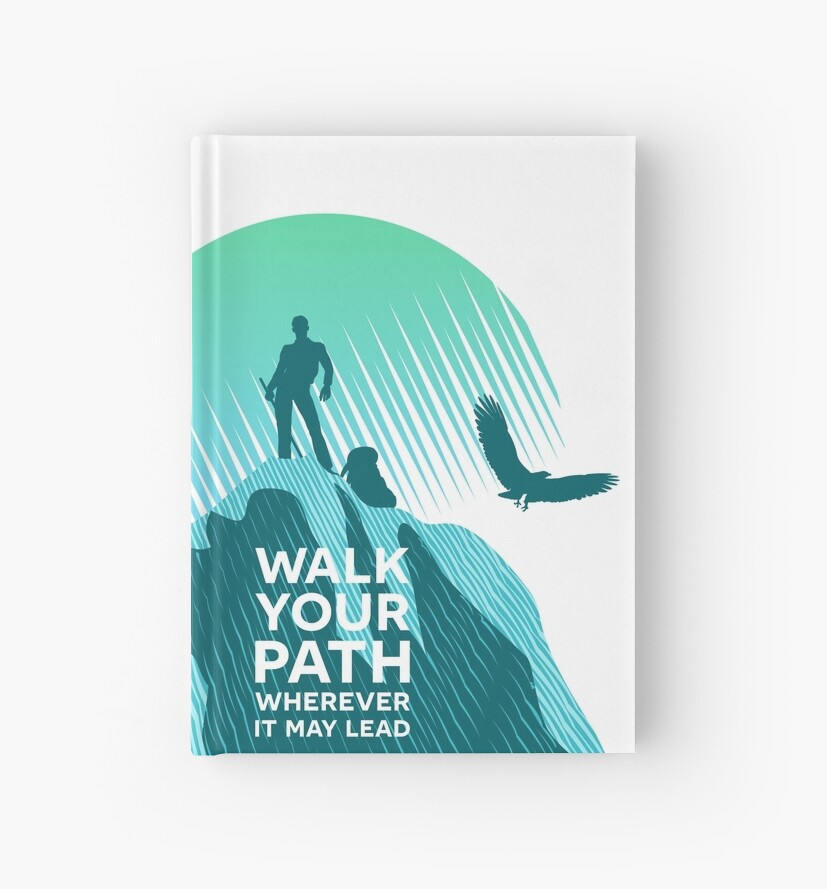 Walk Your Path - Teal by yulia-rb