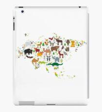 Eurasia Animal Map Simple iPad Case/Skin
