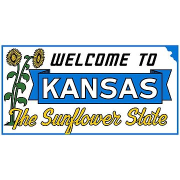 Welcome to Kansas Sign Vintage 50s by worldofsigns
