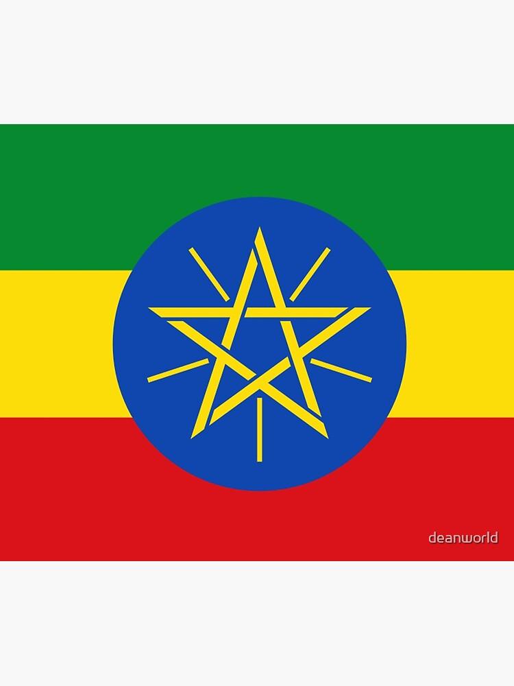 Ethiopia Flag - Ethiopian Sticker by deanworld