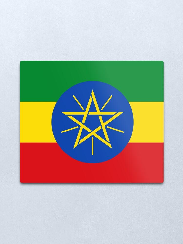 Alternate view of Ethiopia Flag - Ethiopian Sticker Metal Print