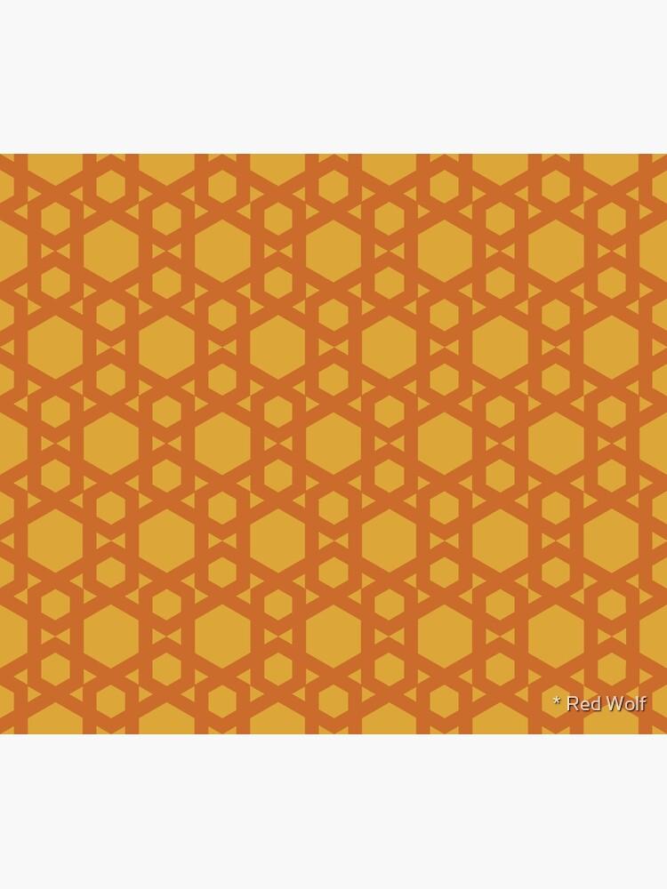 Geometric Pattern: Hexagon: Yellow by redwolfoz