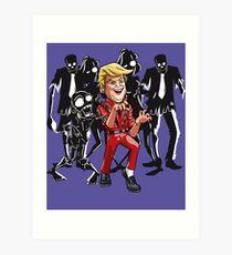 Trump Halloween Thriller Art Print