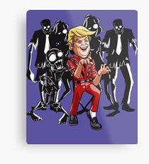 Trump Halloween Thriller Metal Print