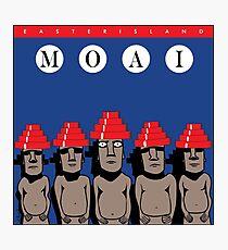 Moai Devo Style Photographic Print