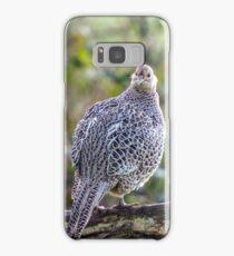 Female Pheasant Woodland Portrait Samsung Galaxy Case/Skin
