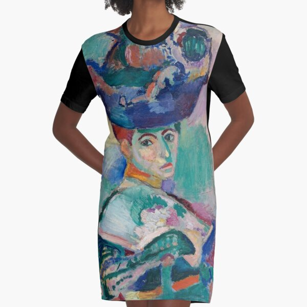 Woman with a Hat -  Henri Matisse Graphic T-Shirt Dress