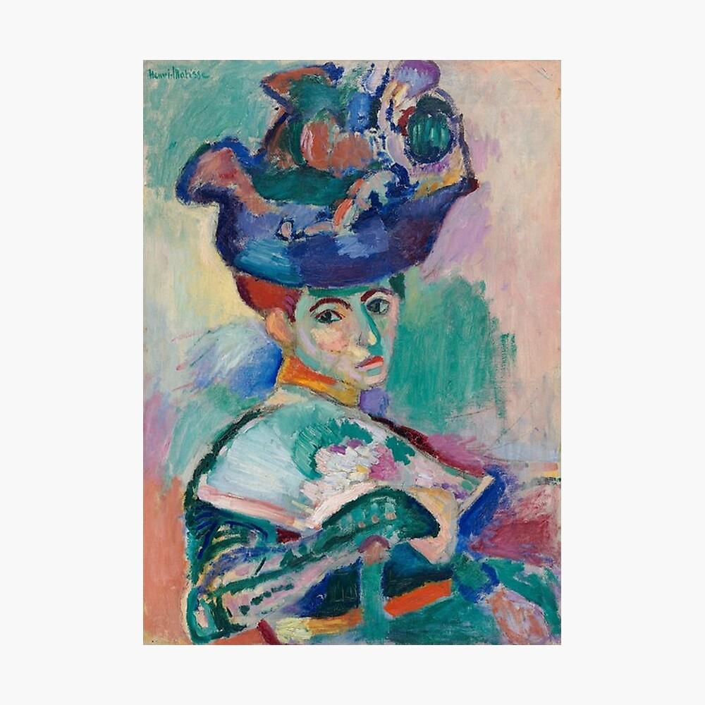 Frau mit einem Hut - Henri Matisse Fotodruck