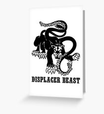 AD&D: Displacer Beast Greeting Card