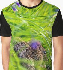 Shy Wood Mouse Portrait Graphic T-Shirt