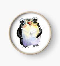 Cute Watercolour Animals Penguin Clock