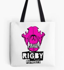 Rigby Nowhere Wolf skull (pink) Tote Bag
