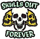 Skulls Out Forever | Retro Spooky by retroready