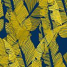 Carved Yellow & Blue Jungle #redbubble #decor #buyart by designdn