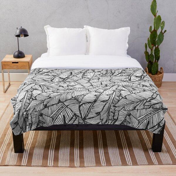 Black & White Jungle Throw Blanket