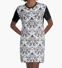 Floral pattern Graphic T-Shirt Dress