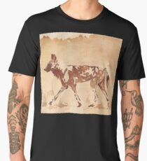 Painted Dog - African Wild Dog Men's Premium T-Shirt