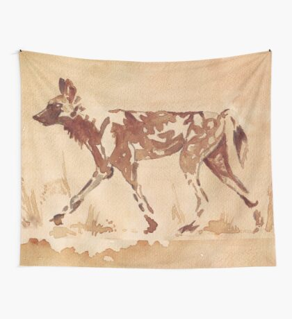 Painted Dog - African Wild Dog Wall Tapestry