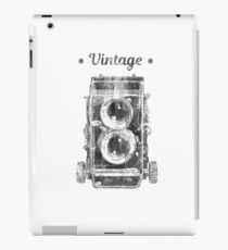 Retro 2 lens photo camera vintage design iPad Case/Skin