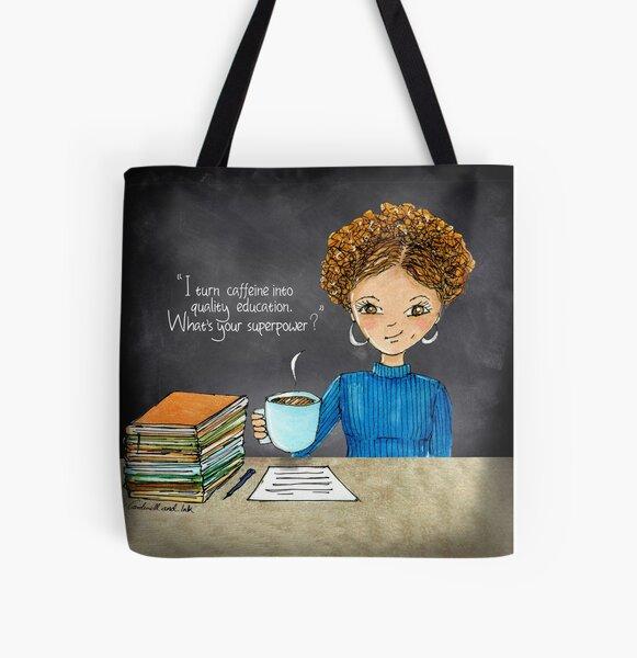 Teacher Coffee 11 All Over Print Tote Bag