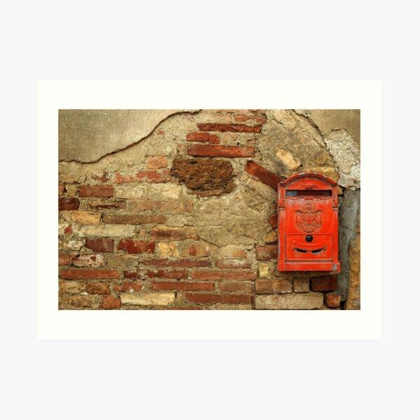 Mail Box, Tuscany, Italy Art Print