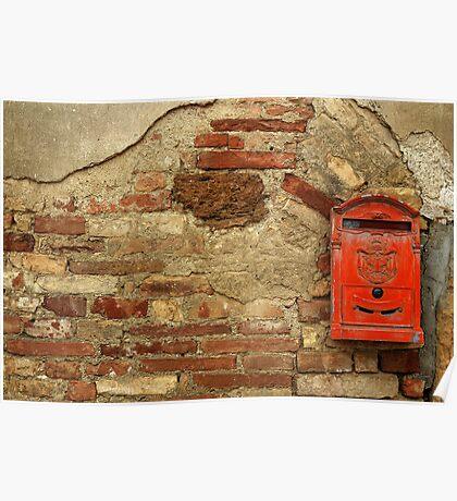 Mail Box, Tuscany, Italy Poster