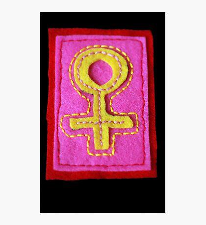 Hand-Embroidered Venus Symbol Photographic Print