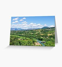 Rural Alpes-de-Haute-Provence in the Summer Greeting Card