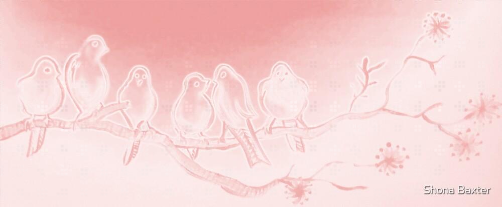 Pink birds by Shona Baxter