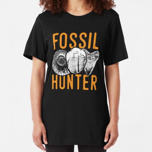 Fossil hunter tshirt - great for rockhounds & paleontologists Slim Fit T-Shirt