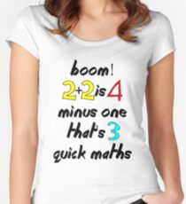 QUICK MATHS v2 Women's Fitted Scoop T-Shirt