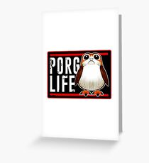 Porg Life Greeting Card