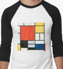 Piet Mondrian, Composition in red, yellow, blue and black Men's Baseball ¾ T-Shirt