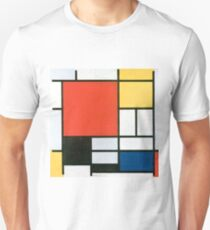Piet Mondrian, Composition in red, yellow, blue and black T-Shirt