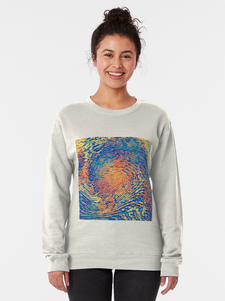 Alternate view of Abstract Wave Pullover Sweatshirt