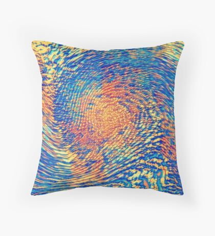 Abstract Wave Floor Pillow