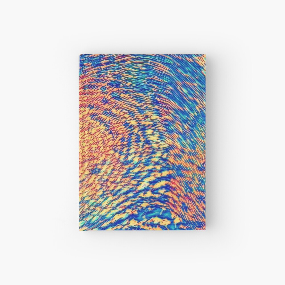 Abstract Wave Hardcover Journal