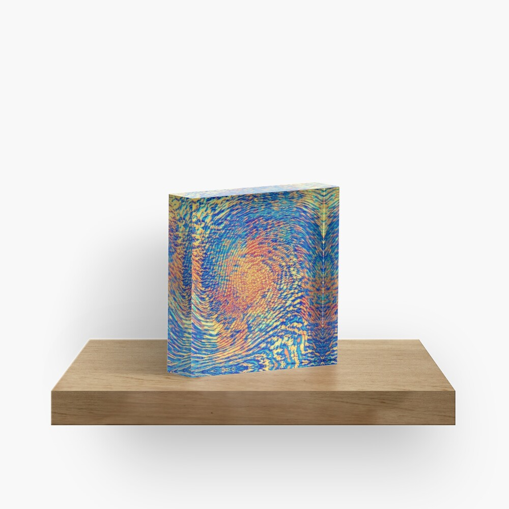 Abstract Wave Acrylic Block