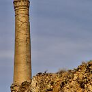 CRACKED MINING CHIMNEY, LA UNION, SPAIN by Squealia