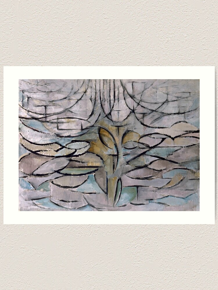 Piet Mondrian Blossoming Apple Tree Wall Art Poster Print