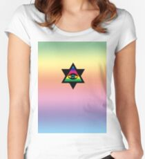 eye of gaygod Women's Fitted Scoop T-Shirt